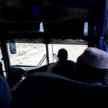Im Überlandbus nach Moshi