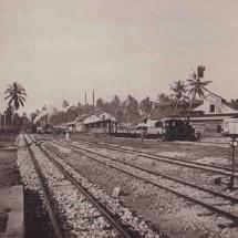 Gleise in Bahnhof Dar